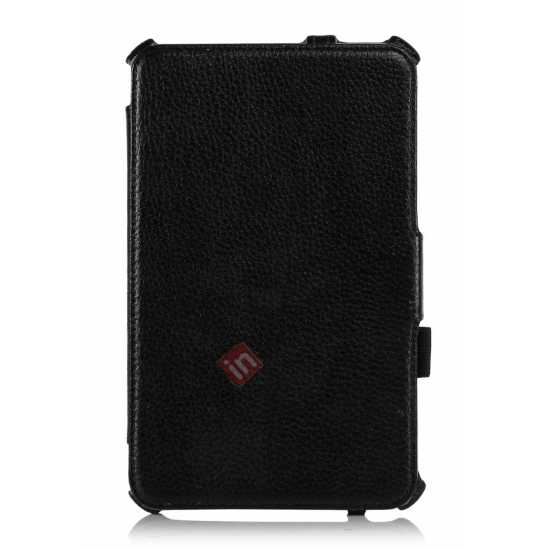 low price High quality Heat Setting Leather Smart Slim Case Cover for Acer Iconia W4-820 - Black