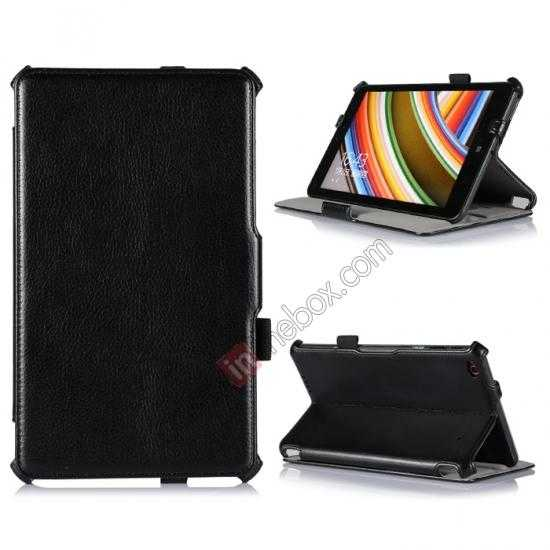 wholesale High quality Heat Setting Leather Smart Slim Case Cover for Lenovo Thinkpad 8 - Black