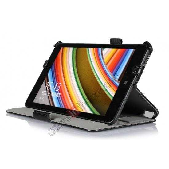 discount High quality Heat Setting Leather Smart Slim Case Cover for Lenovo Thinkpad 8 - Black