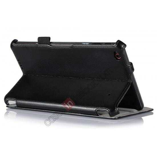 cheap High quality Heat Setting Leather Smart Slim Case Cover for Lenovo Thinkpad 8 - Black