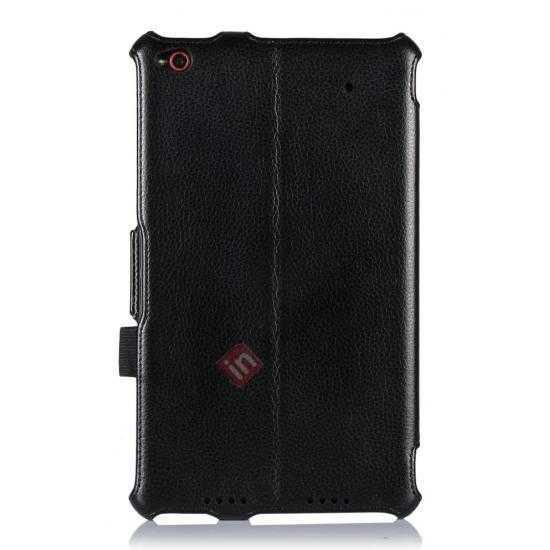on sale High quality Heat Setting Leather Smart Slim Case Cover for Lenovo Thinkpad 8 - Black