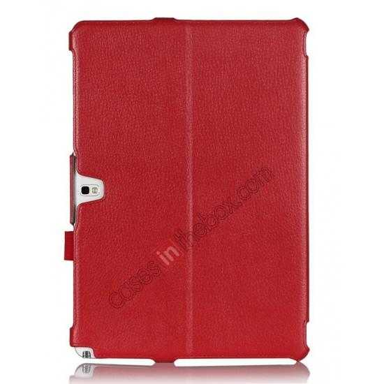 discount High quality Heat Setting Leather Smart Slim Case Cover for Samsung Galaxy Tab Pro 12.2 P900 - Red