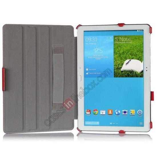 cheap High quality Heat Setting Leather Smart Slim Case Cover for Samsung Galaxy Tab Pro 12.2 P900 - Red