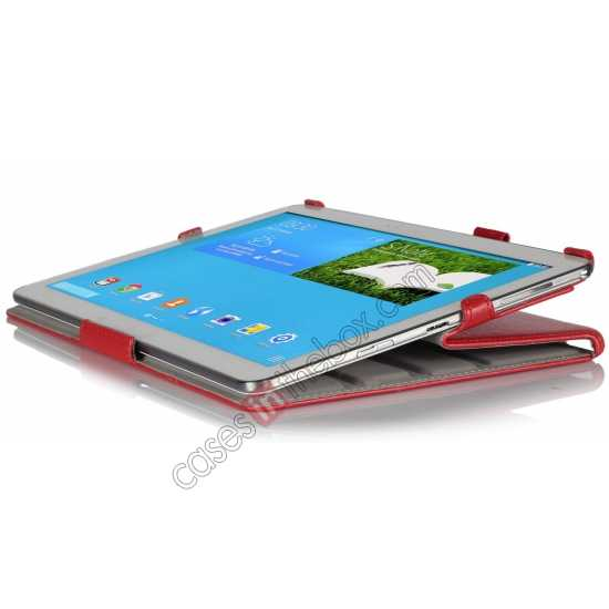 top quality High quality Heat Setting Leather Smart Slim Case Cover for Samsung Galaxy Tab Pro 12.2 P900 - Red