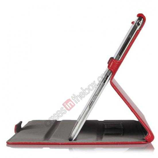 on sale High quality Heat Setting Leather Smart Slim Case Cover for Samsung Galaxy Tab Pro 12.2 P900 - Red