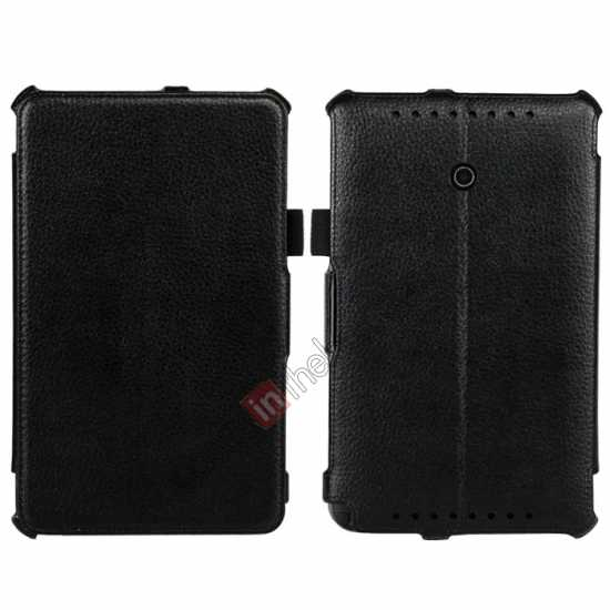 wholesale High quality Heat Setting Leather Stand Case for Asus Vivo Tab Note 8 M80TA - Black