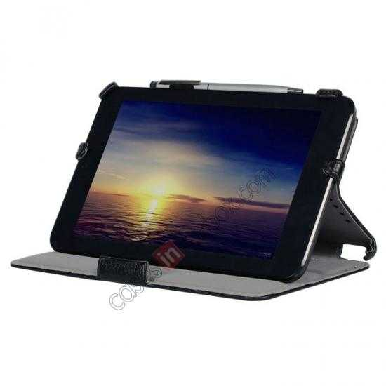 discount High quality Heat Setting Leather Stand Case for Asus Vivo Tab Note 8 M80TA - Black