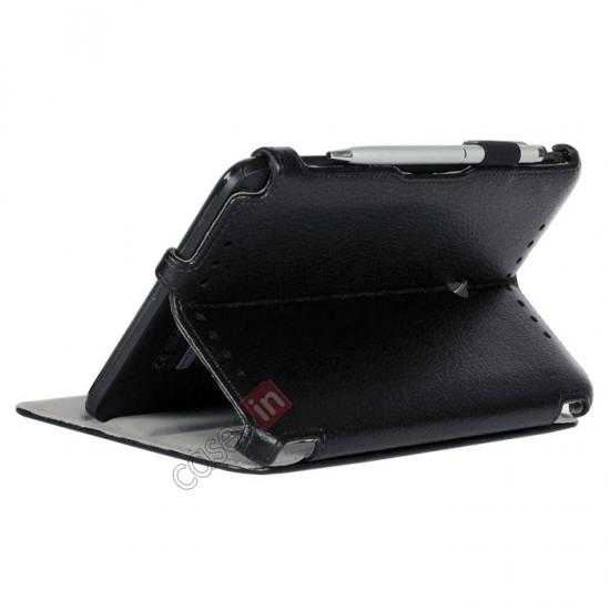 cheap High quality Heat Setting Leather Stand Case for Asus Vivo Tab Note 8 M80TA - Black