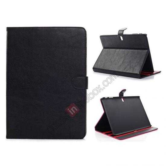 wholesale High quality Leather Folio Stand Case for Samsung Galaxy Tab Pro 10.1 T520 - Black