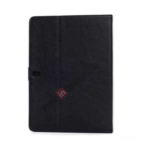 cheap High quality Leather Folio Stand Case for Samsung Galaxy Tab Pro 10.1 T520 - Black