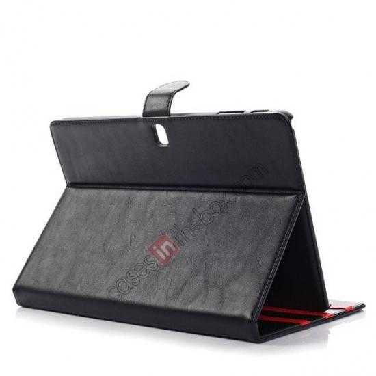 top quality High quality Leather Folio Stand Case for Samsung Galaxy Tab Pro 10.1 T520 - Black