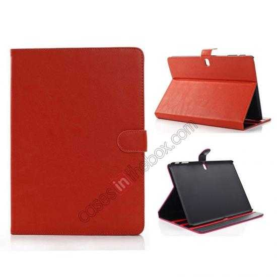 wholesale High quality Leather Folio Stand Case for Samsung Galaxy Tab Pro 10.1 T520 - Brown