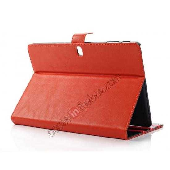 top quality High quality Leather Folio Stand Case for Samsung Galaxy Tab Pro 10.1 T520 - Brown