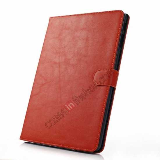 best price High quality Leather Folio Stand Case for Samsung Galaxy Tab Pro 10.1 T520 - Brown