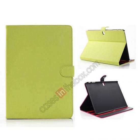 wholesale High quality Leather Folio Stand Case for Samsung Galaxy Tab Pro 10.1 T520 - Green