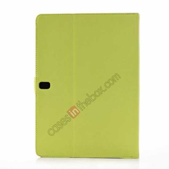 cheap High quality Leather Folio Stand Case for Samsung Galaxy Tab Pro 10.1 T520 - Green