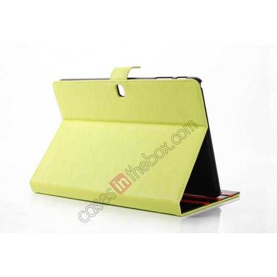 top quality High quality Leather Folio Stand Case for Samsung Galaxy Tab Pro 10.1 T520 - Green