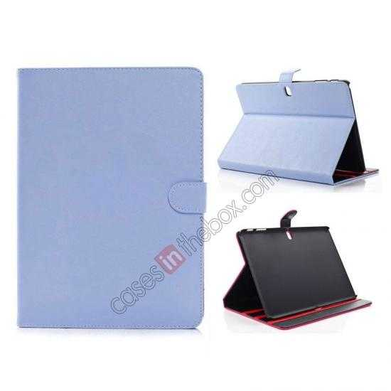 wholesale High quality Leather Folio Stand Case for Samsung Galaxy Tab Pro 10.1 T520 - Light Blue