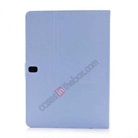 cheap High quality Leather Folio Stand Case for Samsung Galaxy Tab Pro 10.1 T520 - Light Blue
