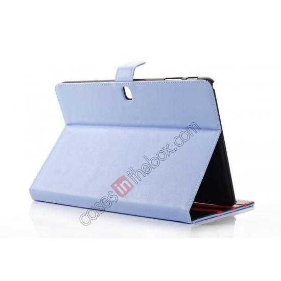 top quality High quality Leather Folio Stand Case for Samsung Galaxy Tab Pro 10.1 T520 - Light Blue