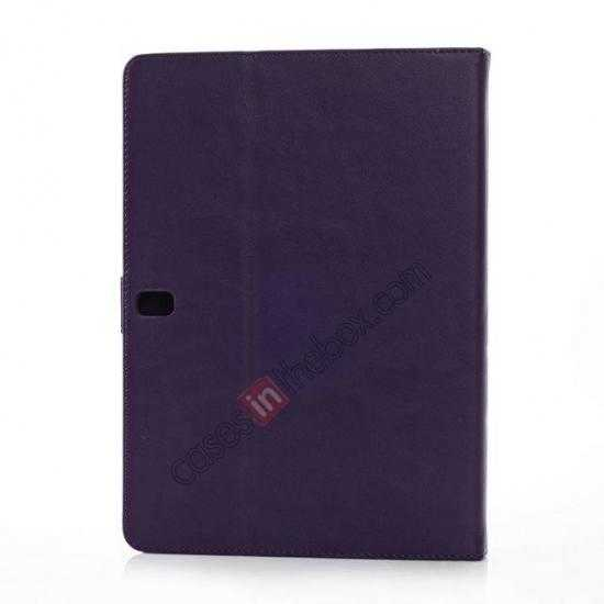 cheap High quality Leather Folio Stand Case for Samsung Galaxy Tab Pro 10.1 T520 - Purple
