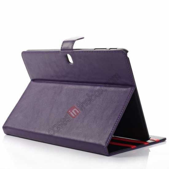 top quality High quality Leather Folio Stand Case for Samsung Galaxy Tab Pro 10.1 T520 - Purple