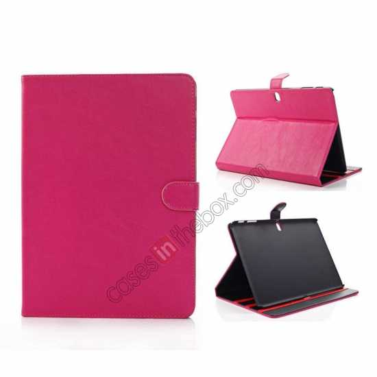 wholesale High quality Leather Folio Stand Case for Samsung Galaxy Tab Pro 10.1 T520 - Rose