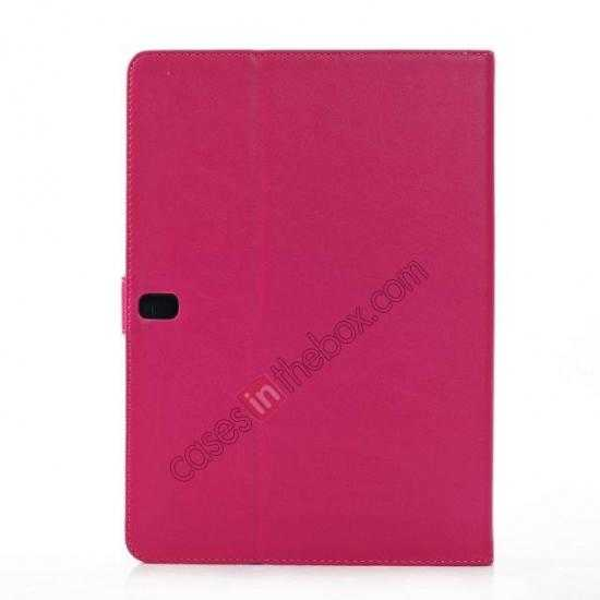 cheap High quality Leather Folio Stand Case for Samsung Galaxy Tab Pro 10.1 T520 - Rose