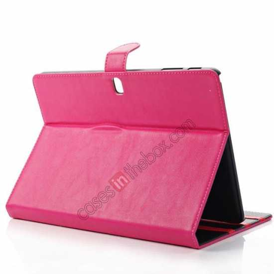 top quality High quality Leather Folio Stand Case for Samsung Galaxy Tab Pro 10.1 T520 - Rose