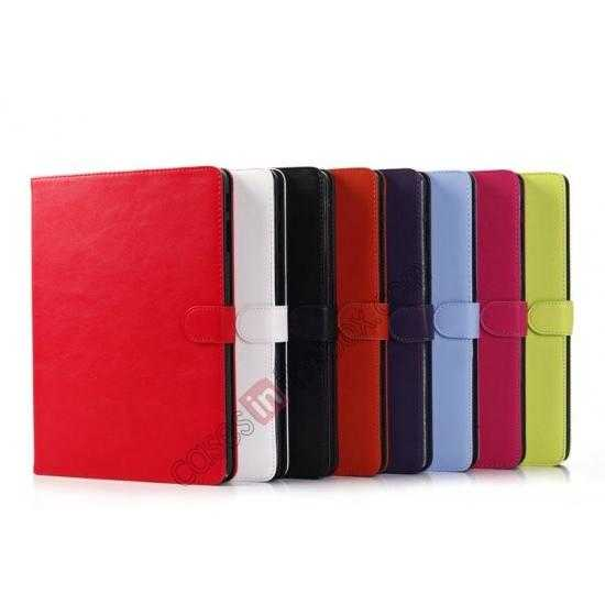 low price High quality Leather Folio Stand Case for Samsung Galaxy Tab Pro 10.1 T520 - Rose