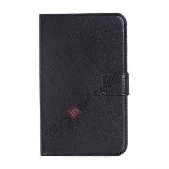 discount High Quality Magnetic Slim Crazy Horse Leather Stand Case for Samsung Galaxy Tab 3 Lite 7 T110 - Black