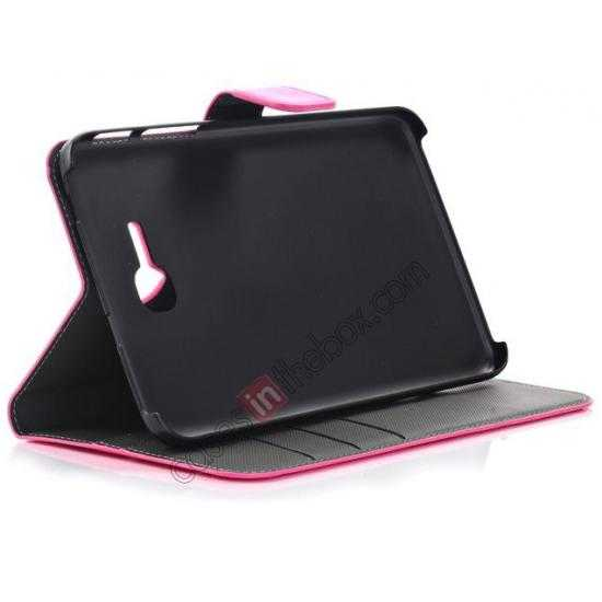 on sale High Quality Magnetic Slim Crazy Horse Leather Stand Case for Samsung Galaxy Tab 3 Lite 7 T110 - Black