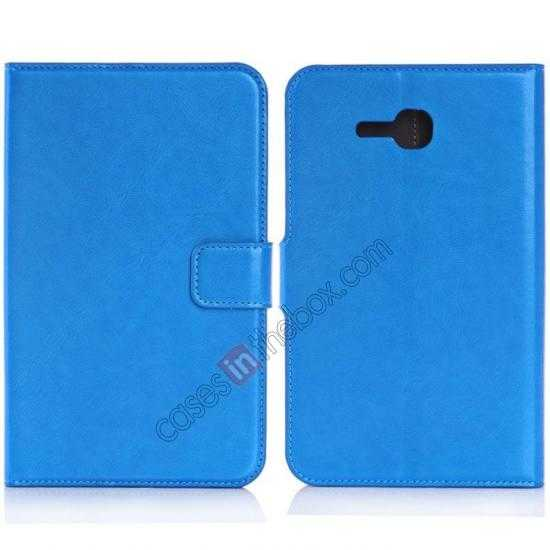 wholesale High Quality Magnetic Slim Crazy Horse Leather Stand Case for Samsung Galaxy Tab 3 Lite 7 T110 - Blue
