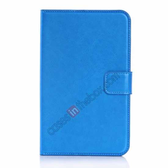 discount High Quality Magnetic Slim Crazy Horse Leather Stand Case for Samsung Galaxy Tab 3 Lite 7 T110 - Blue
