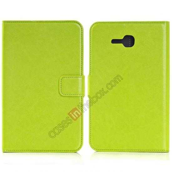 wholesale High Quality Magnetic Slim Crazy Horse Leather Stand Case for Samsung Galaxy Tab 3 Lite 7 T110 - Green