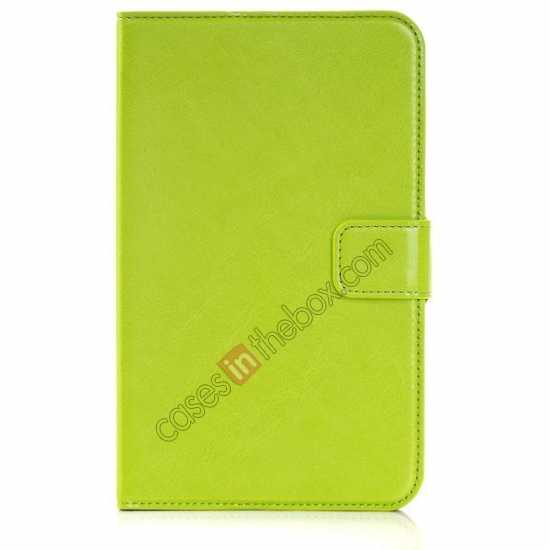 discount High Quality Magnetic Slim Crazy Horse Leather Stand Case for Samsung Galaxy Tab 3 Lite 7 T110 - Green