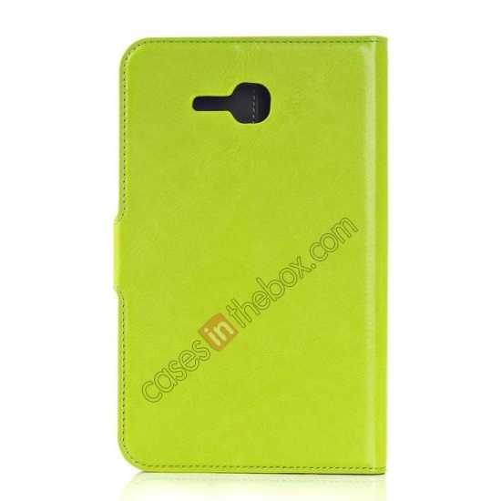 cheap High Quality Magnetic Slim Crazy Horse Leather Stand Case for Samsung Galaxy Tab 3 Lite 7 T110 - Green