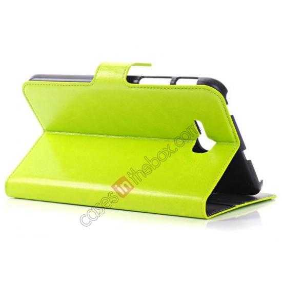 top quality High Quality Magnetic Slim Crazy Horse Leather Stand Case for Samsung Galaxy Tab 3 Lite 7 T110 - Green