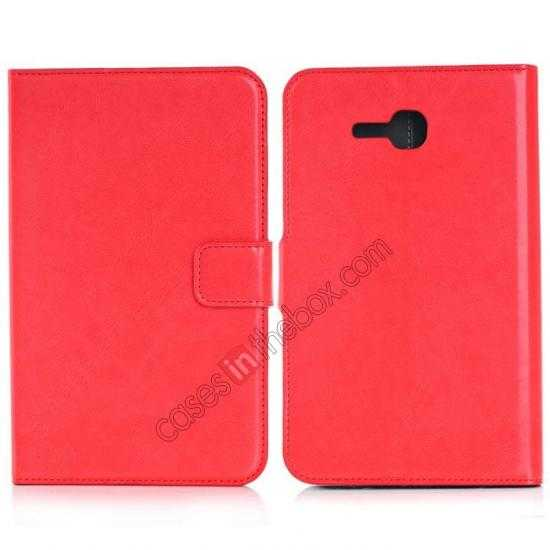 wholesale High Quality Magnetic Slim Crazy Horse Leather Stand Case for Samsung Galaxy Tab 3 Lite 7 T110 - Red