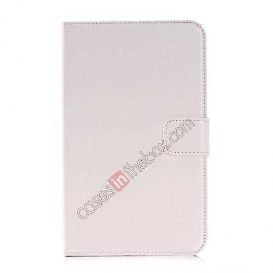 discount High Quality Magnetic Slim Crazy Horse Leather Stand Case for Samsung Galaxy Tab 3 Lite 7 T110 - White