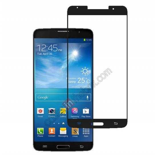 wholesale High Quality Tempered Glass Screen Protector For Samsung Galaxy Note 3 III N9000 - Black