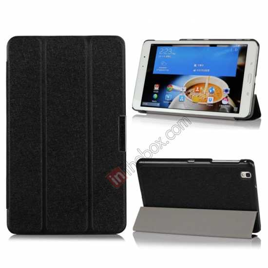 wholesale High quality Ultra Slim Tri Fold Leather Case Cover for Samsung Galaxy Tab Pro 8.4 T320 - Black