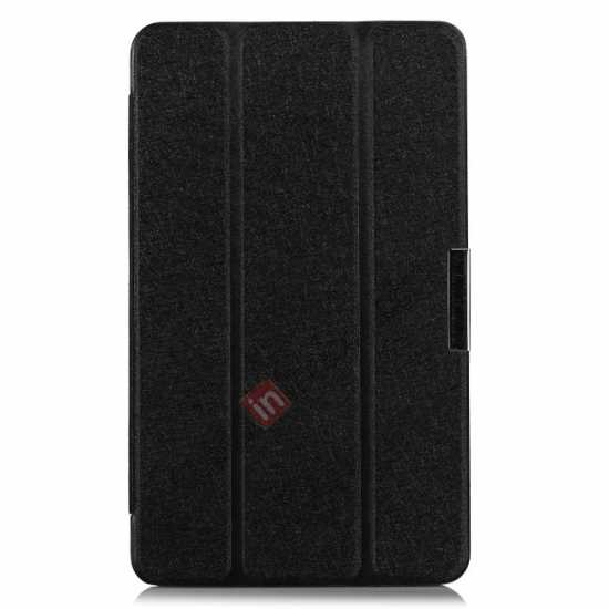 best price High quality Ultra Slim Tri Fold Leather Case Cover for Samsung Galaxy Tab Pro 8.4 T320 - Black
