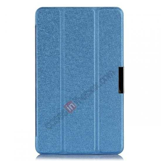 top quality High quality Ultra Slim Tri Fold Leather Case Cover for Samsung Galaxy Tab Pro 8.4 T320 - Blue