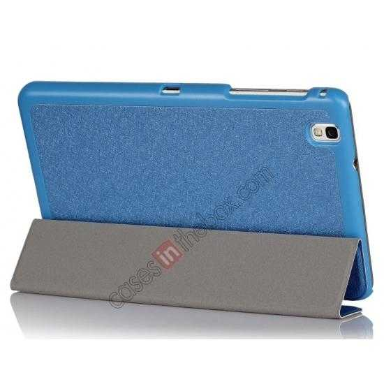 cheap High quality Ultra Slim Tri Fold Leather Case Cover for Samsung Galaxy Tab Pro 8.4 T320 - Blue