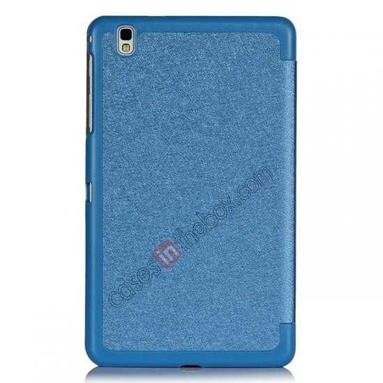 best price High quality Ultra Slim Tri Fold Leather Case Cover for Samsung Galaxy Tab Pro 8.4 T320 - Blue