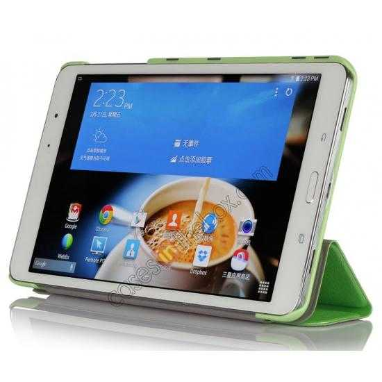 discount High quality Ultra Slim Tri Fold Leather Case Cover for Samsung Galaxy Tab Pro 8.4 T320 - Green