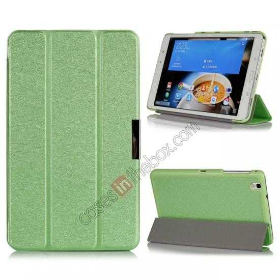 wholesale High quality Ultra Slim Tri Fold Leather Case Cover for Samsung Galaxy Tab Pro 8.4 T320 - Green