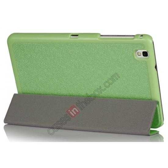 cheap High quality Ultra Slim Tri Fold Leather Case Cover for Samsung Galaxy Tab Pro 8.4 T320 - Green