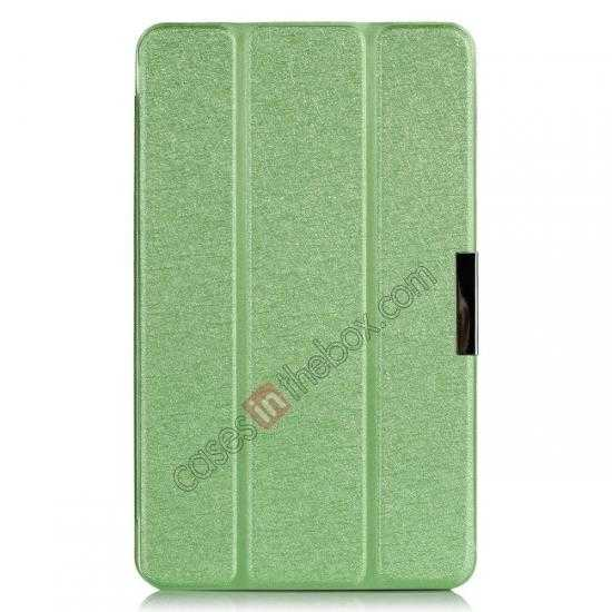 top quality High quality Ultra Slim Tri Fold Leather Case Cover for Samsung Galaxy Tab Pro 8.4 T320 - Green